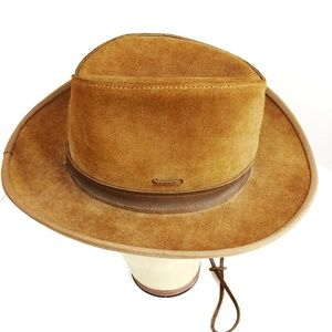 Vintage Leather Outback Aussie Style Hat Cowboy